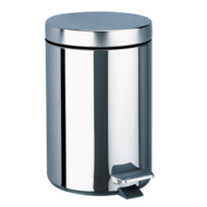 449-Round pedal bin, stainless steel, 3 litres