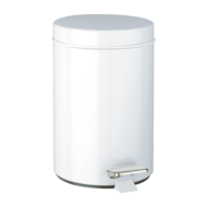 1449-Round pedal bin, stainless steel, 3 litres
