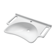 132306-Wall mounted MINERALCAST PMR washbasin