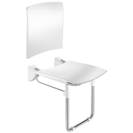 510436S-Lift-up Comfort shower seat with backrest and leg