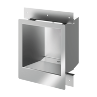 160330-COMMISSARIAT stainless steel washbasin for recessed installation