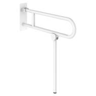 511517W-Basic drop-down support rail, white, L. 760 mm, with leg