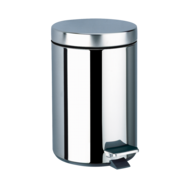 450P-Round, stainless steel pedal bin, 5 litres