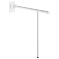 511962W-Be-Line drop-down support rail with leg, L. 650mm, white
