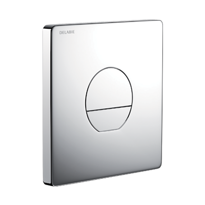 TEMPOFLUX 3 AB recessed direct flush valve - chrome-plated metal wall plate