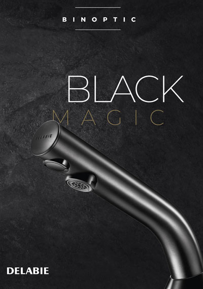 Black electronic tap