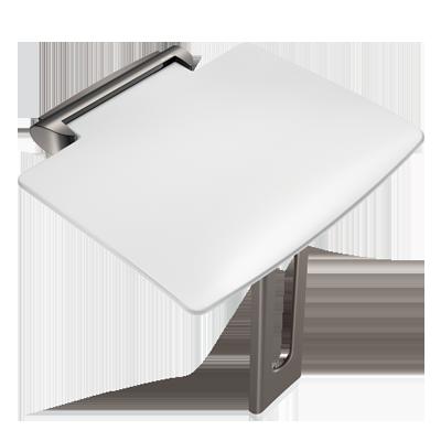Designer lift-up shower seat