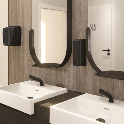 New matte black electronic soap dispenser