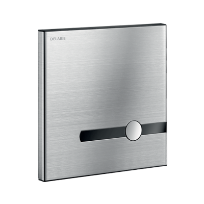 TEMPOMATIC dual control: electronic and time flow direct flush valve recessed in an innovative housing