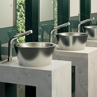 ALGUI stainless steel countertop washbasin