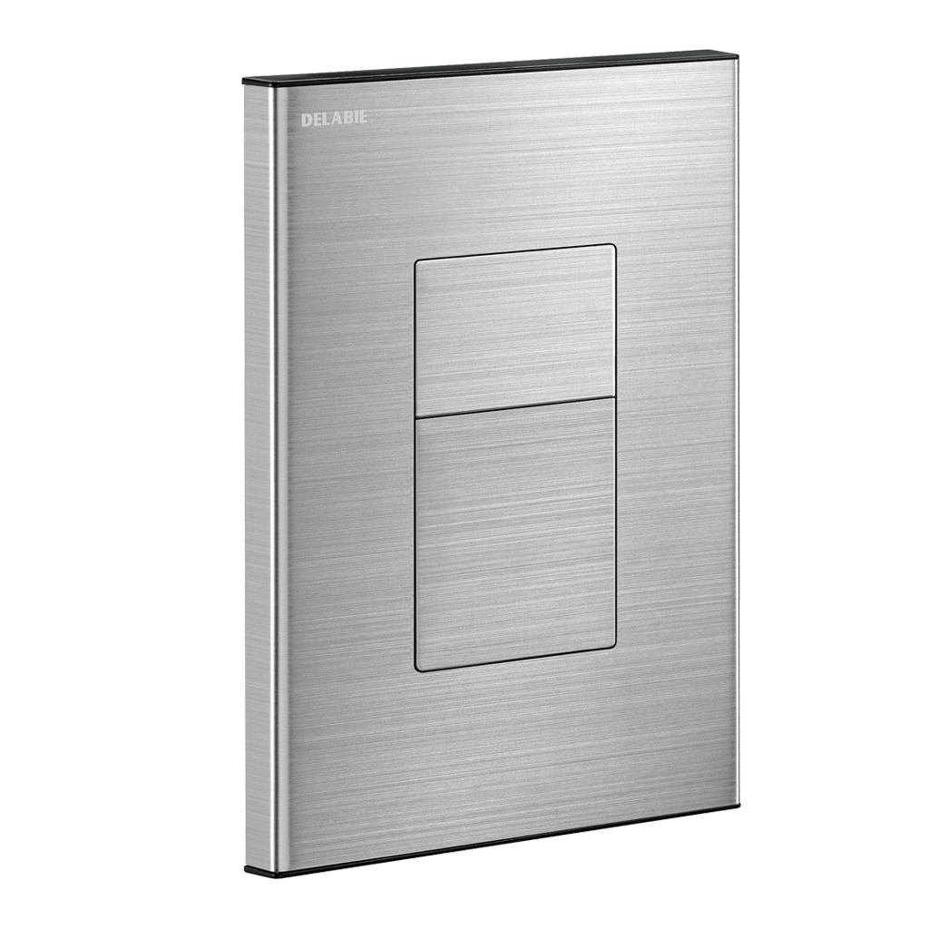 TEMPOFLUX 3 AB recessed direct flush valve - satin finish stainless steel wall plate