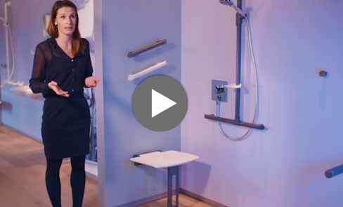 Watch the video for our Be-Line® lift-up shower seat and enter the spirit of design for all