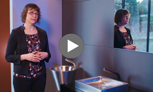 In this video discover the UNITO stainless steel washbasin with its timeless and minimalist design