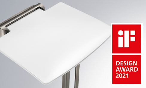 The Be-Line® lift-up shower seat has won the 2021 IF DESIGN AWARD in the Product design - bathroom category