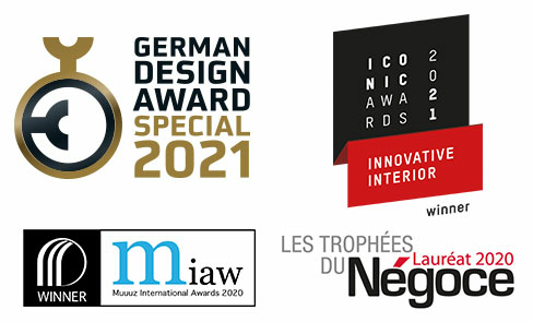 Winner of multiple design awards